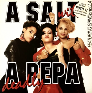 Salt N Pepa ‎- A Salt With A Deadly Pepa (LP) (VG-EX/VG)